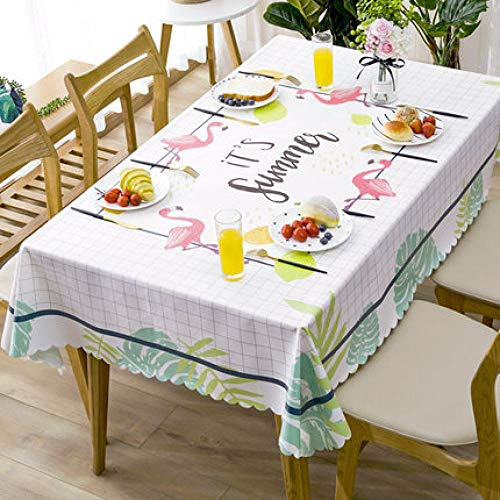Traann tafelzeil, vierkant, inklapbaar, stof, katoen, polyester, waterdicht, voor tuin, keuken, meubels, tapijt, koffie 137*200