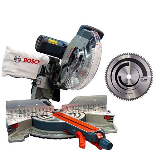 Bosch Kapp- und Gehrungssäge Paneelsäge GCM12GDL + Kreissägeblatt für Aluminium