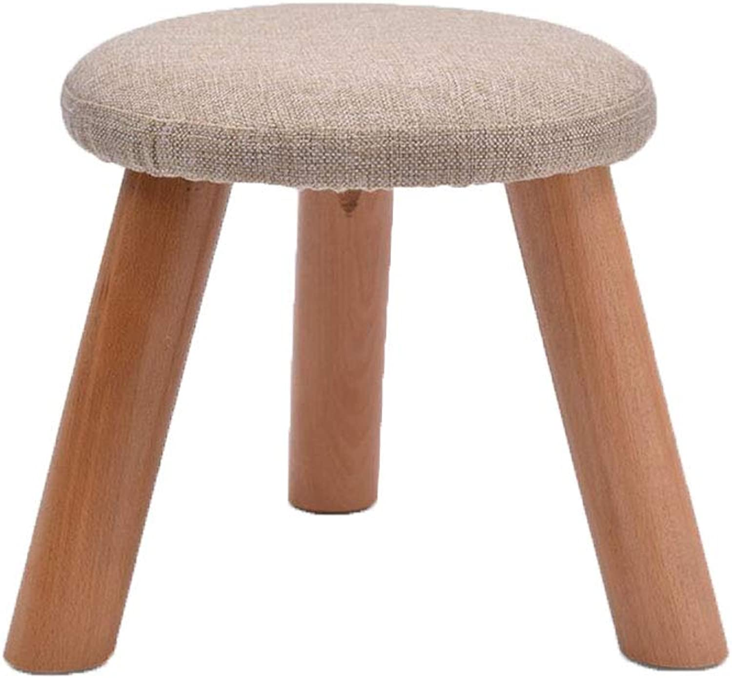XUERUI Furniture Stools Chair Footstool Upholstered Round Modern Luxury Wooden Removable Linen Cover Strong Stability (color   T8)