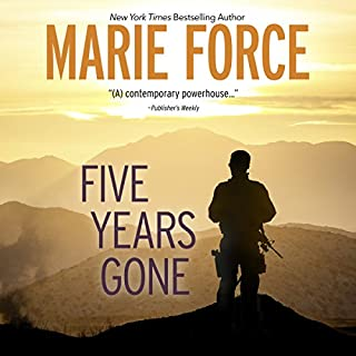 Five Years Gone                   By:                                                                                                                                 Marie Force                               Narrated by:                                                                                                                                 Andi Arndt,                                                                                        Joe Arden                      Length: 8 hrs and 45 mins     186 ratings     Overall 4.6