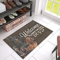 玄関マット3D印刷フロアマットホームルール玄関マットバスルームマット屋内屋外ドアマット ダックスフントのヘア玄関マット バスルームマットリビングルームマットヨガマットパピーマットクリスマスギフトハロウィーン新年新築祝いギフト家の装飾新しいウェディングギフト