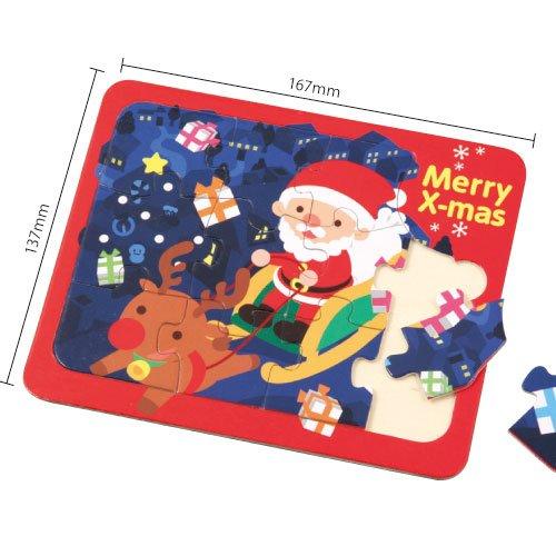 木製クリスマスジグソーパズル
