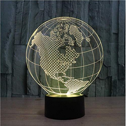 Nord- Und Südamerika-Karte Der Erde Design Nachtlampe 7 Farben Als Abschlussgeschenke Oder Schlafzimmerdekor Kinderbeleuchtung