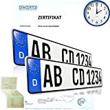 2 x EU KFZ Nummernschilder Autoschilder Kennzeichen ALLE AUTOMARKEN mit individueller Prägung nach Ihren Vorgaben. Bei Bestellung bis 14 Uhr Versand am gleichen Werktag. (KEIN Saison KENNZEICHEN)