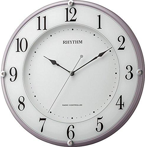 RHYTHM リズム 電波 掛け時計 ミレディア 8MY503SR13 ピンクパール