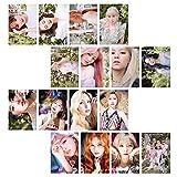 Yhrhredfjh Juego de 16 pegatinas para tarjetas de fotos de Kpop, tamaño mini y transparente, para fotocarteles, tarjetas LOMO, regalo (2 unidades, 16 unidades, 5,2 x 7,4 cm)