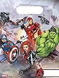 Procos 87969 - Partytüten Mighty Avengers, 6 Stück, Mitgebsel, Kindergeburtstag