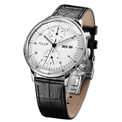 FEICE Men's Mechanical Watch Bauhaus Automatic Watch Stainless Steel...
