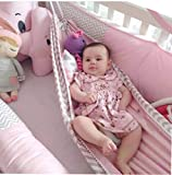 Baby Schaukelstuhl Infant Squat Sitz Kinder Schaukel Baby Cartoon Hängematte Home Outdoor Abnehmbare Tragbare Bequemes Bett Kit Infant Hängematte-Rosa