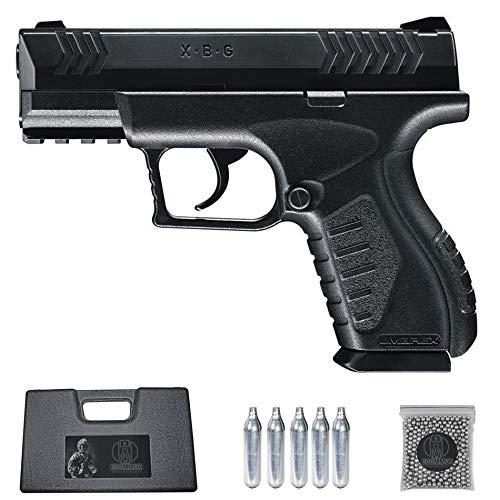 Ecommur. XBG umarex   Pistola de perdigones (Bolas BB s de Acero) de Aire comprimido semiautomática 4,5mm + maletín + balines y CO2