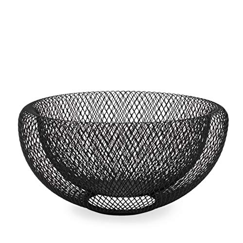Torre & Tagus Mesh Double Wall Bowl, Medium, Black