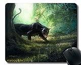 Alfombrilla de ratón Antideslizante, Lince depredador Grande Gato se Sienta 119138 Alfombrilla de ratón con Borde Cosido