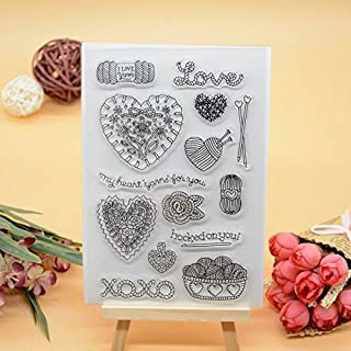 Welcome to Joyful Home 1pc Love Happy Valentine's Day Design Rubber Clear Stamp for Card Making Decoration and Scrapbooking (3)