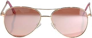 OWL Women's Aviator Metal Classic Sunglasses UV400 Protection Gold Rose Mirror