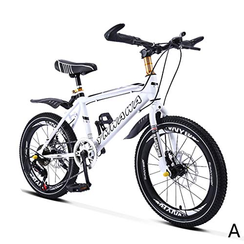 Kids'Bikes Liuwubing Fahrrad Roller Student Fahrrad Shifting Mountainbike Junge Fahrrad Mädchen Fahrrad 18 Zoll 20 Zoll, Kohlenstoffstahl Rahmen (Color : A, Size : 18inches)