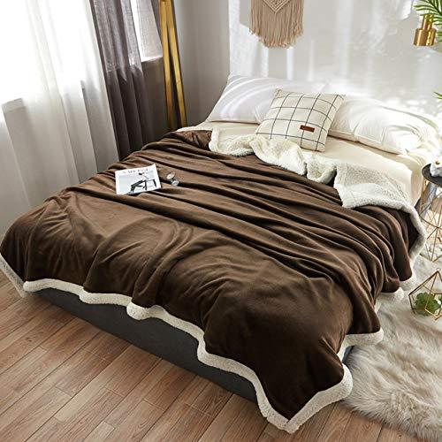 RTRHGDFFGFJHGDDTRHGHUG Donkerbruin Klein deken kantoor verdikt dutje deken student slaapzaal stapelbed deken (120x200CM)
