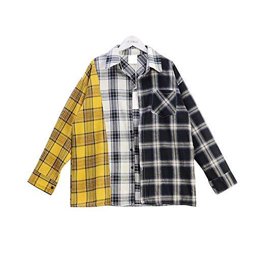 BTS Shirt Suga Style Lose genäht Kariertes Hemd Plaid Shirt