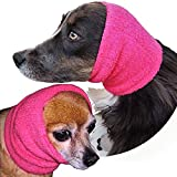 The Original Happy Hoodie for Dogs and Cats - 2 Pack (1 Small, 1 Large) - The Grooming and Force Drying Miracle Tool for Anxiety Relief and Calming Dogs - Pink