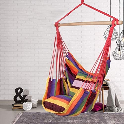 CYICP Portable hammock chair, rope chair, swing chair Child/Adult Natural and Comfortable Textile Linen (Color : 13, Ships From : CHINA)