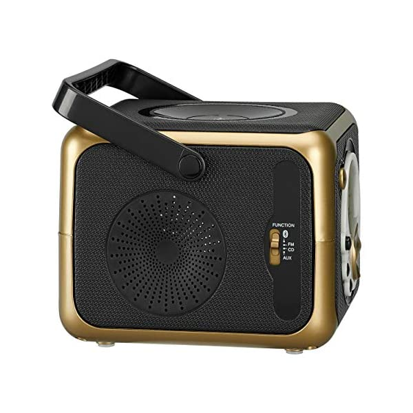 Portable Bluetooth Music System with CD Player +CD-R/RW & FM Radio with Aux-in & Headphone Jack Line-In … 5