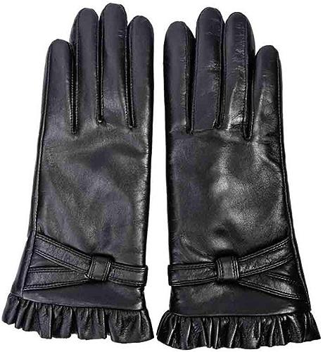 XY Gants Gants en Cuir Vélo d'hiver épais Garder Au Chaud Les Gants en Cuir à écran Tactile (Couleur   Noir, Taille   M)