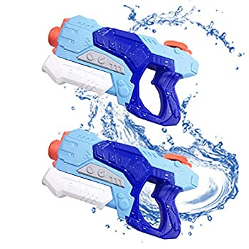 Water Guns for Kids and Adults 2 Pack Squirt Water Guns Super Soaker Water Blaster 600CC High Capacity for Beach Swimming Pool Outdoor Water Fighting Party Toy Gifts for boy and Girl