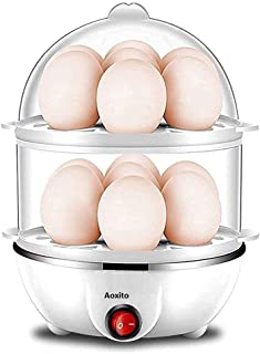 AOXITO Egg Boiler Poacher Automatic Off Steaming, Cooking, Boiling Double Layer 14 Egg Boiler (Multicolor)