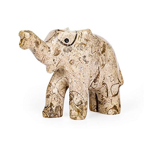 K-ONE 1 Piezas Piedras Naturales Afganistán Cristales de Jade Cuarzo Forma de Elefante decoración del hogar decoración de mármol