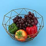 Cesta de frutas, respetuosa con el medio ambiente, nunca se desvanece, soporte para frutas, práctico para sala de estar, para placa decorativa para oficina(Grande de diez esquinas)
