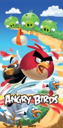 Global Labels G 67 400 AB1 100 - Toalla de Playa con diseño de Angry Birds, 75 x 150 cm