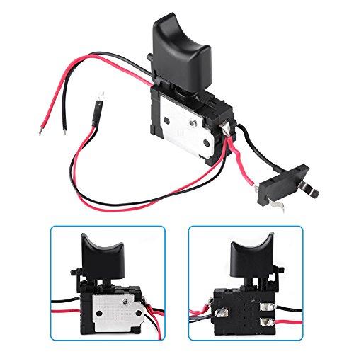 Trekkerschakelaar voor boormachines, 7,2 V - 24 V lithiumbatterij Draadloze trekkerschakelaar voor het regelen van de boorsnelheid met een klein lampje