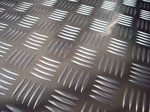 Schachtabdeckung Riffelblech Alu Abdeckplatte Tränenblech 1250x1250x5/6,5mm Gullideckel Kellersumpf Platte… (625x625mm)