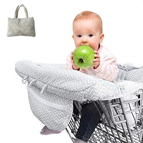 Funda De Asiento Para Carrito De Compras Para Bebés Pequeños,Funda Para Silla Alta 2 En1 Funda Para Asiento De Carro Segura,Arnés De Seguridad De Algodón Ultra Felpa,Lavable A Máquina Para Niños Niñas