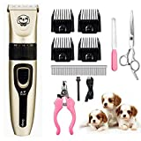 Looffy Dog Clippers,Upgraded Low Noise Pet Clippers Rechargeable Dog Grooming Clippers Cordless Pet Grooming Clippers Tool Professional Dog Hair Clippers& Suitable for Dogs, Cats, and Other Pets