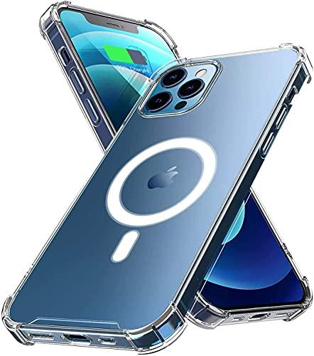 Funda Transparente Diseñado para Magsafe Compatible con iPhone 12 Pro Max 6.7