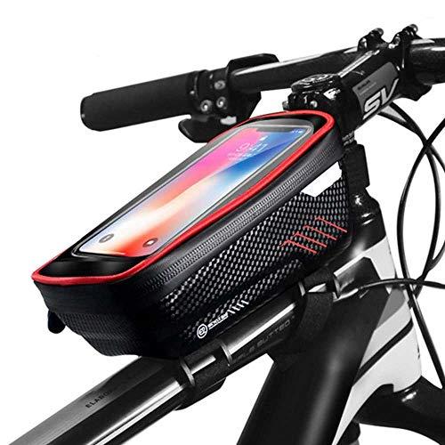 Langy Fietstas waterdicht voorwiel fietstas 6,2 inch mobiele telefoon fiets top tube mountainbike accessoires