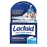 Lactaid Original Strength Lactose Intolerance Relief Caplets with Natural Lactase Enzyme, 120 ct