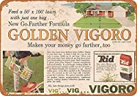 Golden Vigoro Lawn Fertilizer メタルポスター壁画ショップ看板ショップ看板表示板金属板ブリキ看板情報防水装飾レストラン日本食料品店カフェ旅行用品誕生日新年クリスマスパーティーギフト
