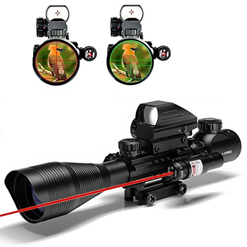Best Prices! Wolf Warriors Tactical Optics 4-12x50EG Dual illuminated Rifle Scope Optics with Hologr...