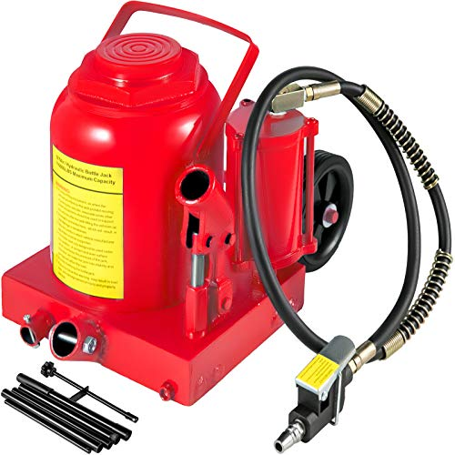 Bestauto Air Hydraulic Bottle Jack 50 Ton Bottle Jack 110231lbs Air Jack Rugged Steel Construction Heavy Duty for Auto Truck RV Repair Lift Tools