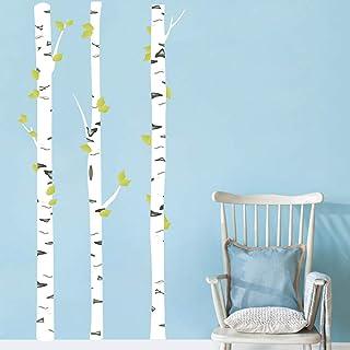 Runtoo Pegatinas de Pared Árboles Blanca Stickers Adhesivos Vinilo Abedul Decorativas Salon Habitacion Bebe Dormitorio