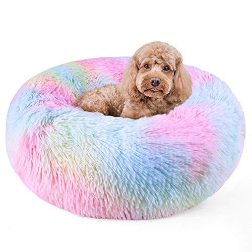 DADYPET Cama para Gatos Lavable Cama Perro Cálido Felpa Suave,Cama Interior Invierno para Mascotas,Resbalón Prueba,65cm