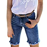 Wirziis Shorts for Women, High Rise Blue Stretchy...