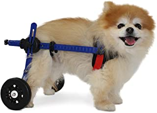 Walkin' Wheels Dog Wheelchair -XS for Mini/Toy Breeds 2-10 lbs-Veterinarian Approved - Wheelchair for Back Legs