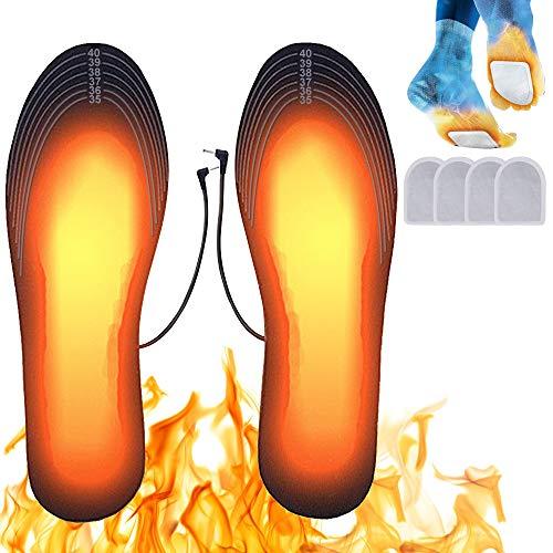 Suxman Plantillas Calefactables, Calentadores de Pies, Termosoles con Cable USB, Plantillas Climatizadas, Suelas Calentables,Hombres Mujeres para Alire Libre Invierno Senderismo Camping(M)