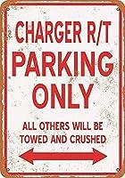 充電器R/T駐車場のみ 金属板ブリキ看板警告サイン注意サイン表示パネル情報サイン金属安全サイン