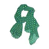 MALPLENA - Bufanda de gasa con lunares verdes para mujer