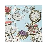 Talking Tables- Confezione da 20 tovaglioli blu Alice nel paese delle meraviglie | Stoviglie usa e getta, riciclabili | Forniture per Cappellaio Matto Tea Party, TSALICE-V2-CNAPKIN