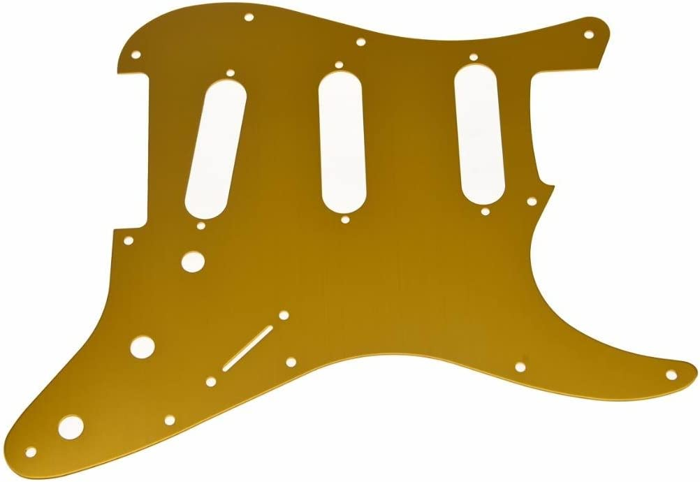 KAISH 11 Hole ST Strat SSS Metal Guitar Pickguard Aluminum Scrach Plate for USA//Mexican Fender Stratocaster Gold