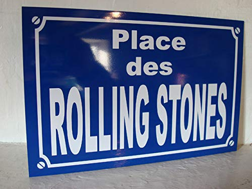 plaque de rue Rolling Stone déco édition limitée Cadeau Fan Collection